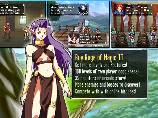 Rage of Magic II: Full Version Features