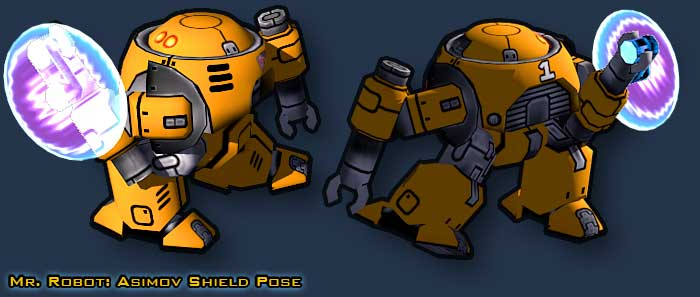 Mr Robot: Asimov Ghost Hack Shield Pose