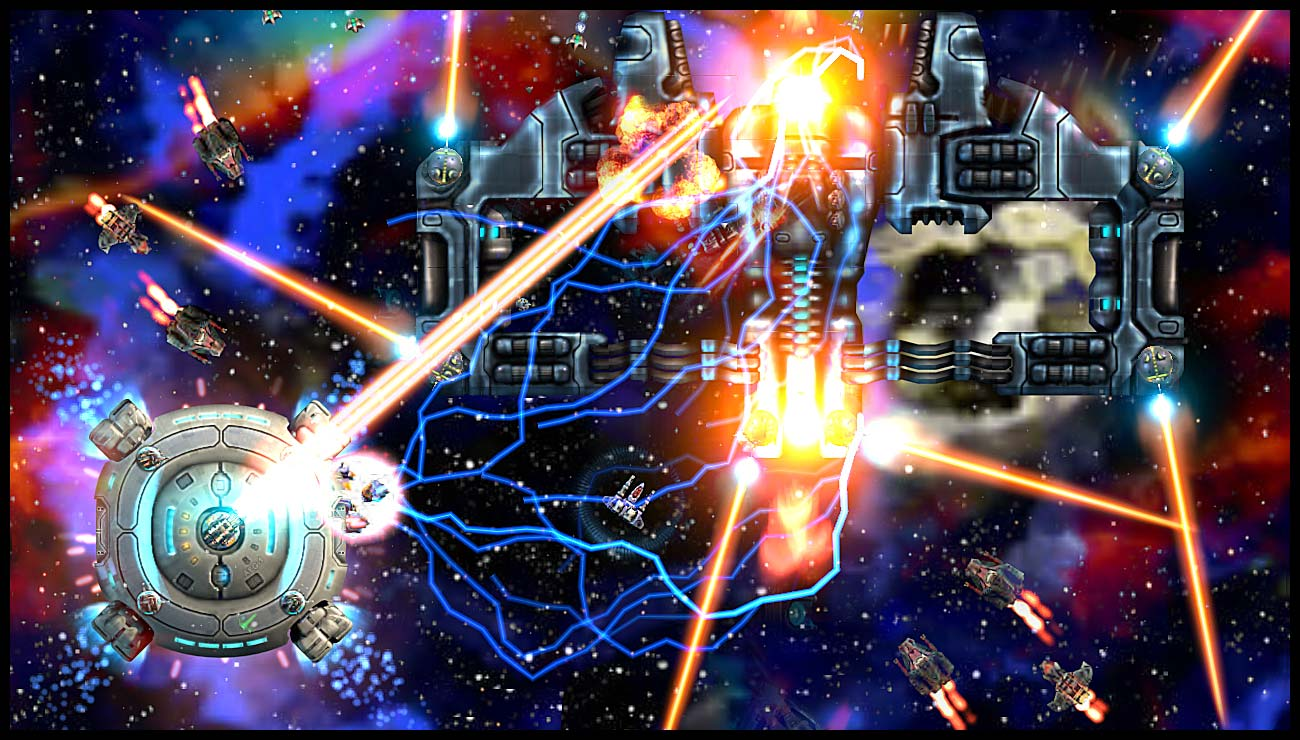 Starscape on Xbox Live Arcade: Boss Attack with Aegis assistance