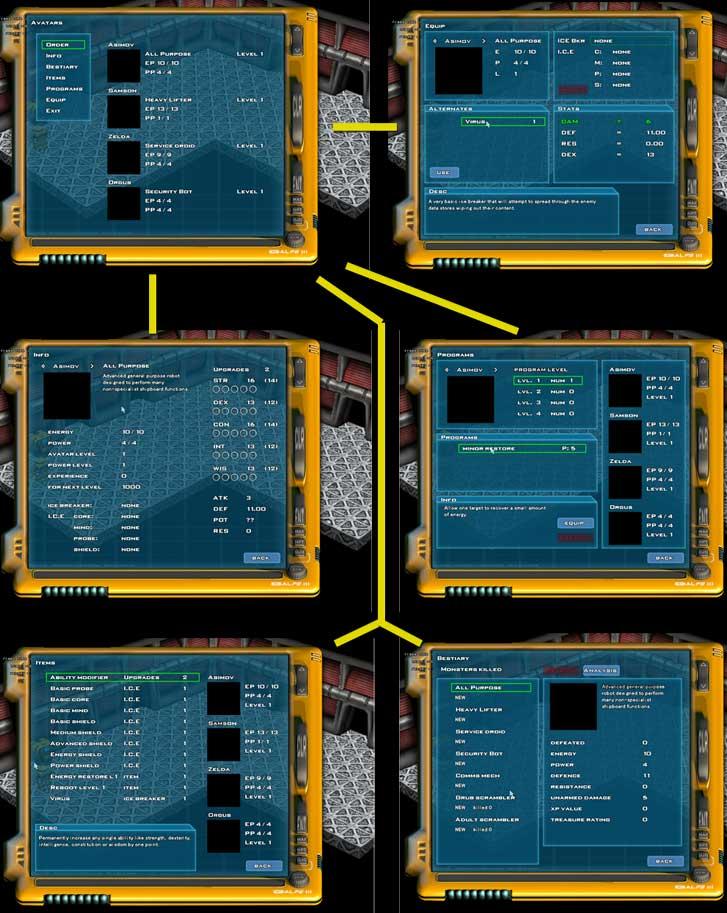 Mr Robot: Shost Hack Management Screens