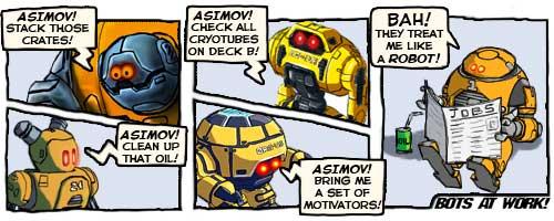 Bots at work.